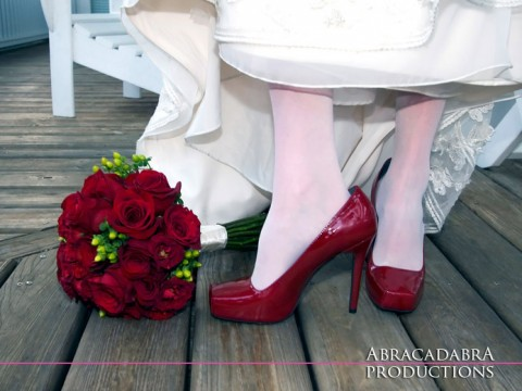 Key West Wedding Photography - Sunset Key, red shoes